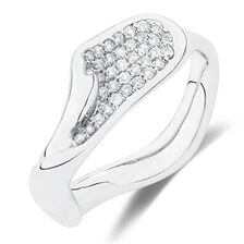 Spirits Bay Ring with 1/3 Carat TW of Diamonds in Sterling Silver