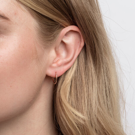14mm Sleeper Earrings in 10kt Rose Gold