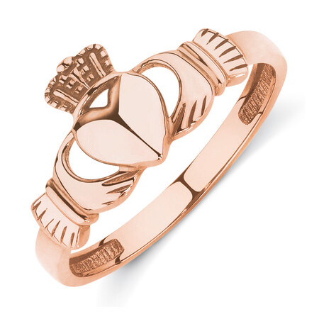 Claddagh Ring in 10kt Rose Gold