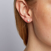 Stud Earrings with 5mm Cultured Freshwater Pearl in 10kt Yellow Gold