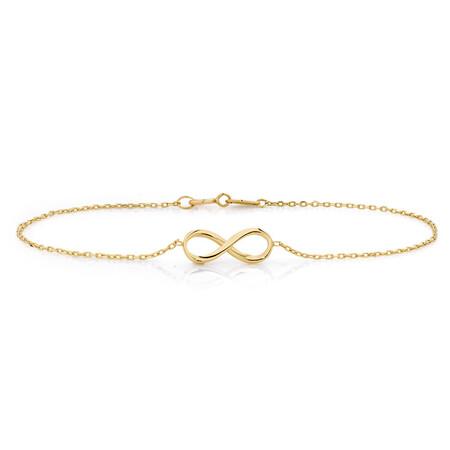 Infinity Bracelet in 10kt Yellow Gold