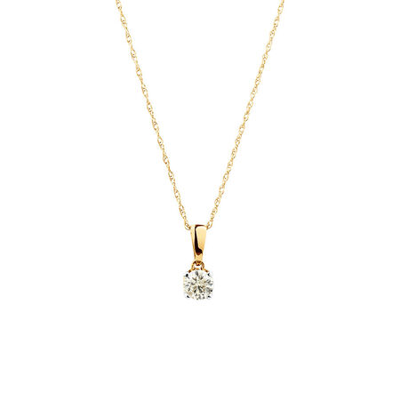 Pendant with 1/3 Carat TW of Diamonds in 10kt Yellow Gold