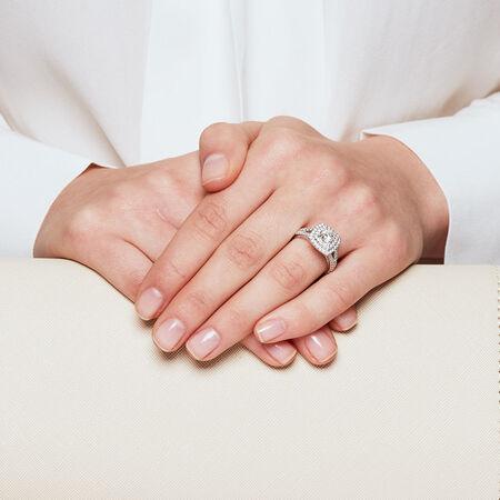 Sir Michael Hill Designer GrandArpeggio Engagement Ring with 1 3/4 Carat TW of Diamonds in 14kt White Gold