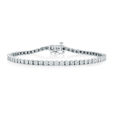 Bracelet with 1/4 Carat TW of Diamonds in Sterling Silver