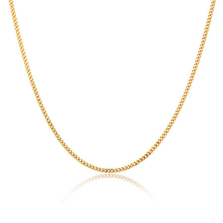 "55cm (22"") Curb Chain in 10kt Yellow Gold"