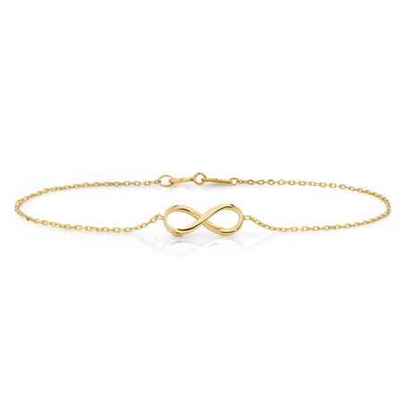 Infinity Bracelet in 10kt Yellow Gold