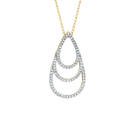 Pendant with 0.20 Carat TW of Diamonds in 10kt Yellow Gold