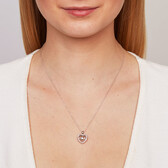 Everlight Pendant with 1/4 Carat TW of Diamonds in 10kt Rose Gold & Sterling Silver