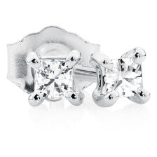 Classic Stud Earrings with 1/8 Carat TW of Diamonds in 10kt White Gold