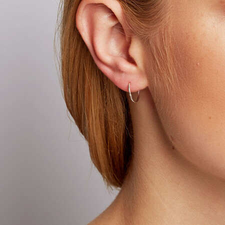 12mm Sleeper Earrings in Sterling Silver