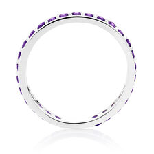 Purple Cubic Zirconia Stack Ring