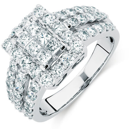Online Exclusive - Engagement Ring with 1.97 Carat TW of Diamonds in 14kt White Gold