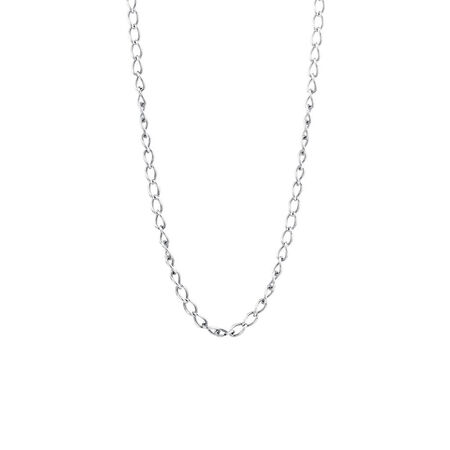 """Online Exclusive - 50cm (20"""") Curb Chain In Sterling Silver"""