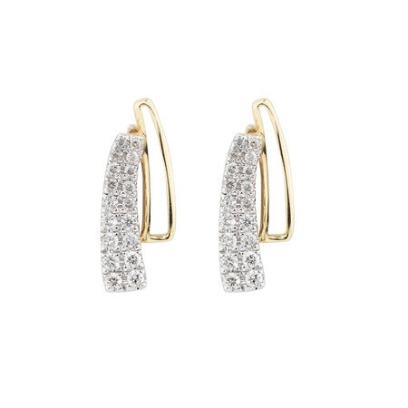Earrings with 1/4 Carat TW of Diamonds in 10kt Yellow & White Gold