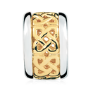 10kt Yellow Gold & Sterling Silver Celtic Pattern Charm