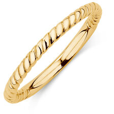 10kt Yellow Gold Rope Stack Ring