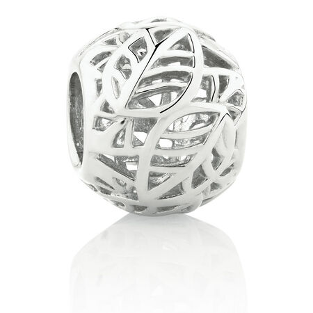 Leaf Pattern Charm in Sterling Silver