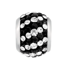 Black & White Crystal Charm
