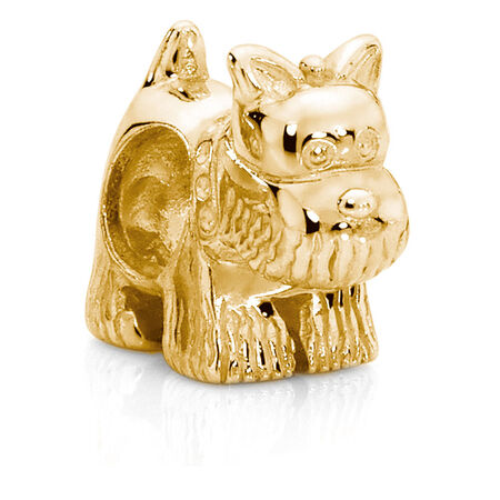 10kt Yellow Gold Scotty Dog Charm