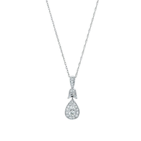 Sir Michael Hill Designer GrandAmoroso Pendant with 1/4 Carat TW of Diamonds in 10kt White & Rose Gold