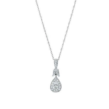 Sir Michael Hill Designer GrandAmoroso Pendant with 1/4 Carat TW of Diamonds in 10kt White & Rose Gold