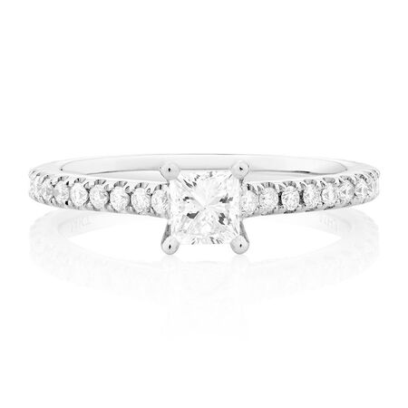 Sir Michael Hill Designer GrandAria Engagement Ring with 1 Carat TW of Diamonds in 14kt White Gold