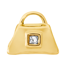 Diamond Set & 10kt Yellow Gold Handbag Charm