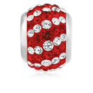 Red & White Crystal Charm