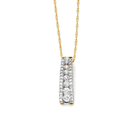 Pendant with 1/4 Carat TW of Diamonds in 10kt Yellow Gold