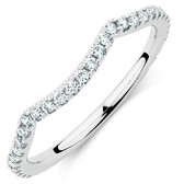 Sir Michael Hill Designer GrandAdagio Wedding Band with 1/3 Carat TW of Diamonds in 14kt White Gold