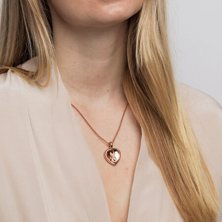 Infinitas Enhancer Pendant with 1/10 Carat TW of Diamonds in 10kt Rose Gold