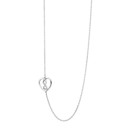 Infinitas Necklace with Diamonds in Sterling Silver