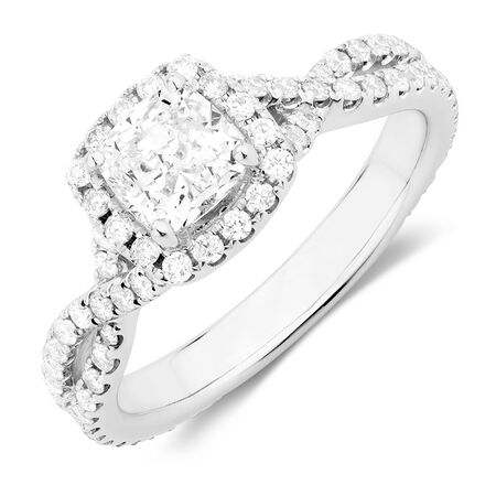 Sir Michael Hill Designer GrandAdagio Engagement Ring with 1 3/4 Carat TW of Diamonds in 14kt White Gold