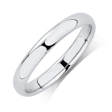 Wedding Band in Platinum