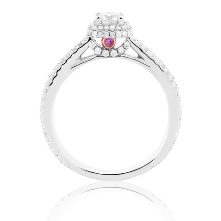 Sir Michael Hill Designer GrandAllegro Engagement Ring with 3/4 Carat TW of Diamonds in 14kt White Gold