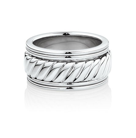 Men's Patterned Spinning Ring in 925 Sterling Silver