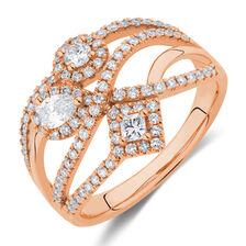 Ring with 3/4 Carat TW of Diamonds in 10kt Rose Gold