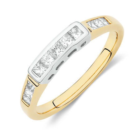 Online Exclusive - Wedding Band with 0.49 Carat TW of Diamonds in 18kt Yellow and White Gold