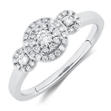 Engagement Ring with 0.29 Carat TW of Diamonds in 10kt White Gold