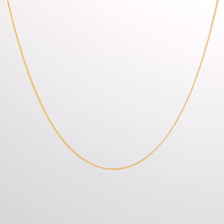 """Online Exclusive - 50cm (20"""") Curb Chain in 10kt Yellow Gold"""