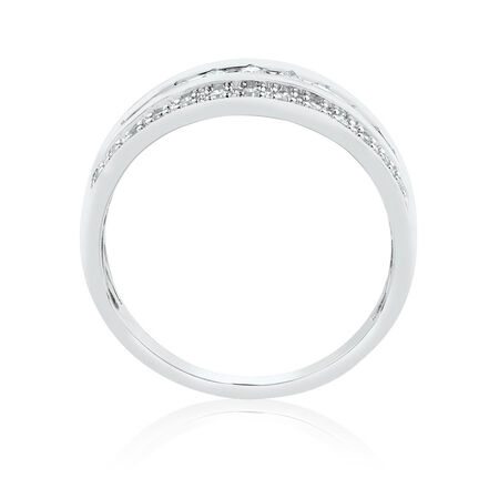 Ring with 1/3 Carat TW of Diamonds in 10kt White Gold
