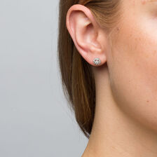 Stud Earrings With 1 4 Carat Tw Of Diamonds In 10kt White Gold
