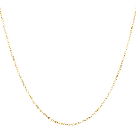 """45cm (18"""") Solid Cable Chain in 10kt Yellow Gold"""
