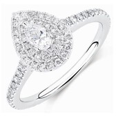 Sir Michael Hill Designer GrandArpeggio Engagement Ring with 7/8 Carat TW of Diamonds in 14kt White Gold