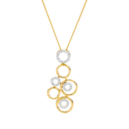 Online Exclusive - Pendant with 0.20 Carat TW of Diamonds in 10kt Yellow Gold