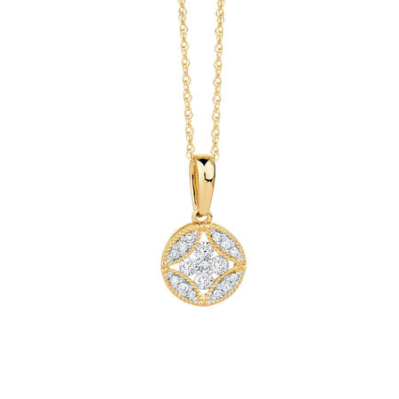 Pendant with 1/5 Carat TW of Diamonds in 10kt Yellow Gold