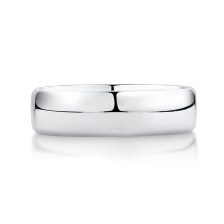 Men's Wedding Band in Platinum