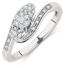 Engagement Ring with 1/5 Carat TW of Diamonds in 10kt White Gold