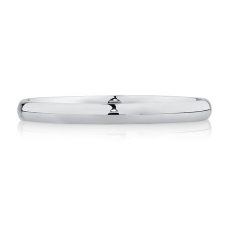Wedding Band in 18kt White Gold