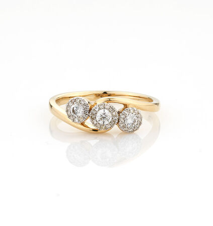 Online Exclusive - Ring with 1/3 Carat TW of Diamonds in 10kt Yellow Gold